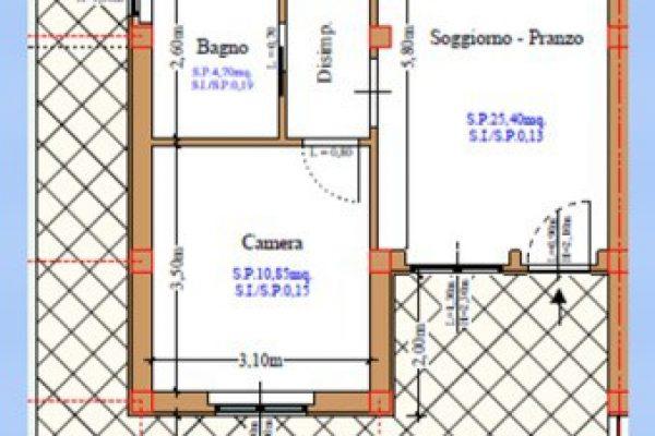 Plattegrond onderwoning blok A